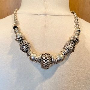 Chico's Chunky Silver statement necklace